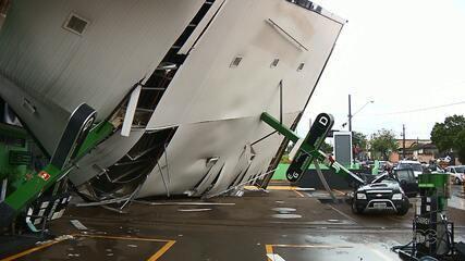Zona norte de Londrina registra os maiores estragos durante o temporal