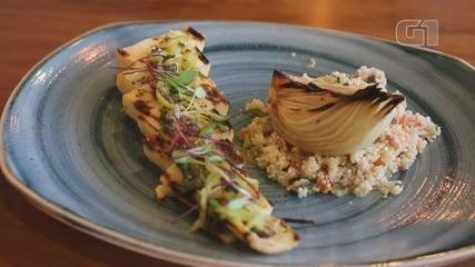 Culinária #013: Palmito pupunha com quinoa é prato vegetariano que mescla texturas
