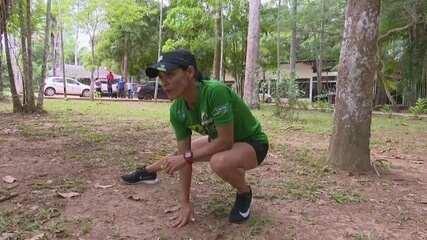 Após 2 meses de treinos, Rosângela Oliveira disputa meia maratona em Manaus neste domingo