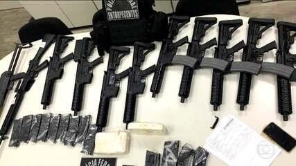 Polícia Federal apreende 11 fuzis no Aeroporto Santos Dumont, no Rio