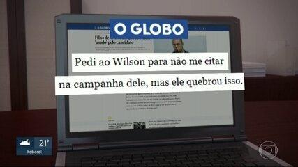 Filho de Wilson Witzel diz em entrevista que se sentiu usado pelo pai