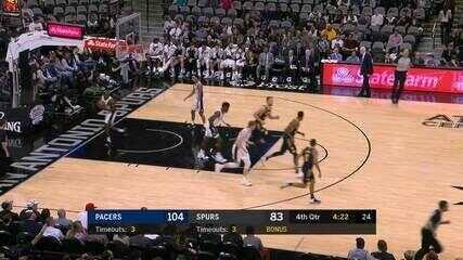 Melhores momentos: Indiana Pacers 116 x 96 San Antonio Spurs de NBA