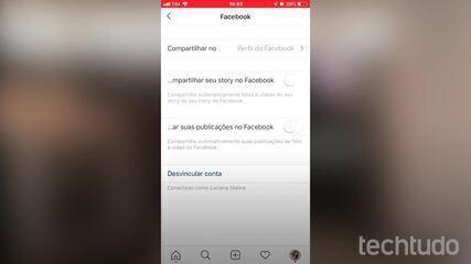 Como desvincular Instagram do Facebook
