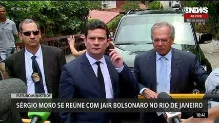 Sérgio Moro deixa a casa de Jair Bolsonaro após reunião no Rio de Janeiro
