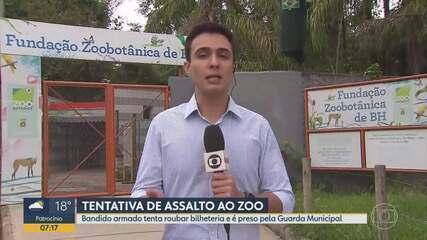 Suspeito armado tenta assaltar zoológico de Belo Horizonte