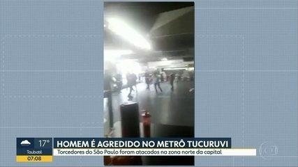 Homem é agredido no metrô Tucuruvi após jogo do São Paulo