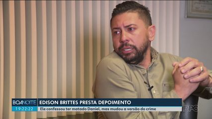 Edison Brittes prestou depoimento à polícia e mudou alguns pontos da versão do crime