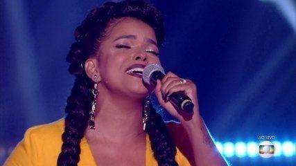 Jeniffer Nascimento cantou 'Olha o Que o Amor Me Faz'