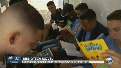Biblioteca móvel: furgão leva literatura e arte a vários pontos de Campinas