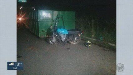 Motociclista fica em estado grave ao bater em container em rodovia de Franca, SP