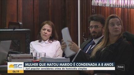 Enfermeira acusada de matar o marido em Lages é condenada a 8 anos em regime semi-aberto
