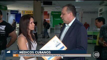 Médicos cubanos deixam o Piauí após rompimento de programa com governo de Cuba