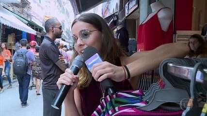 Thati Lopes anunciava promoções em lojas antes da fama