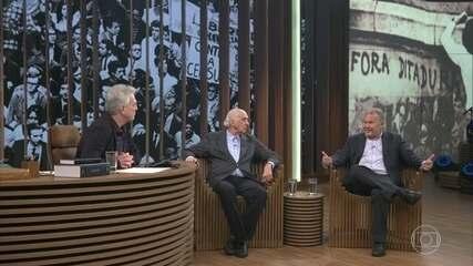 Zuenir Ventura e César Benjamin relembram suas prisões no 'Conversa com Bial'