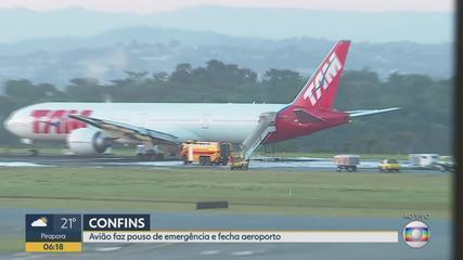 Avião que iria para Londres faz pouso forçado no Aeroporto Internacional de Belo Horizonte