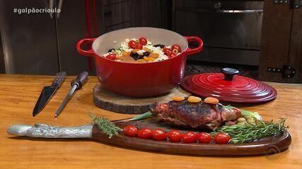 Elton Saldanha prepara Matambre Recheado no quadro Cozinha de Galpão
