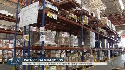 Inspeção de auditores e analistas da Receita Federal gera impasse em Viracopos