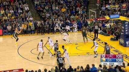 Melhores momentos: Golden State Warriors 129 x 127 Los Angeles Clippers pela NBA