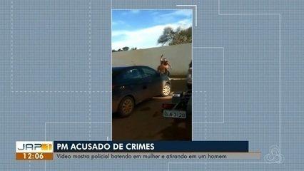 Vídeo mostra policial batendo em mulher e atirando em um homem, em Macapá