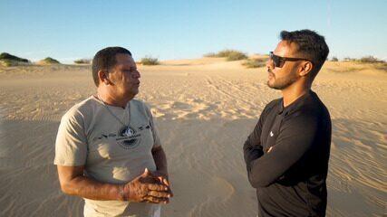 Pablo visita uma vinícola em Casa Nova e passeia por um oásis nas dunas do Velho Chico