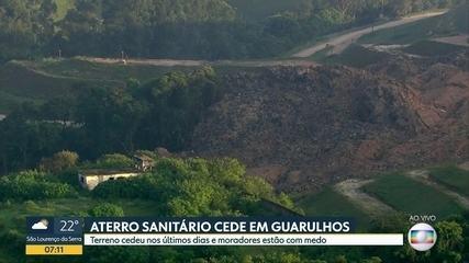 Deslocamento de aterro sanitário de Guarulhos deixa cidade em estado de emergência