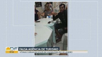 Vítimas caem em golpe de viagem para o Rio de Janeiro
