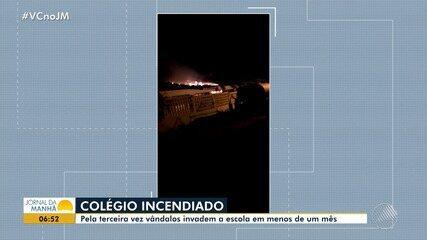 Jovem é preso e confessa ter incenciado colégio estadual em Rodelas, na região norte