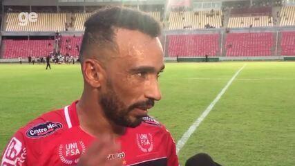 Eduardo fala sobre gol em derrota do River-PI contra o Moto