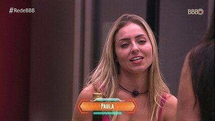 """Paula comenta sobre Alan e ouve: """"Tá apaixonada"""""""