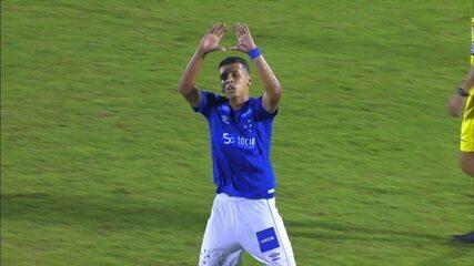 Gol do Cruzeiro! Após escanteio, Vinícius Popó empata, aos 6 do 2º tempo