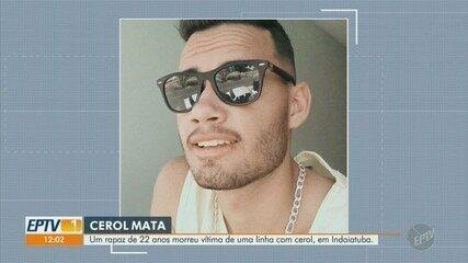 Jovem de 22 anos morre vítima de uma linha com cerol, em Indaiatuba