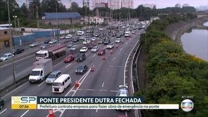 Prefeitura de SP contrata empresa para fazer obras emergenciais na Ponte Dutra