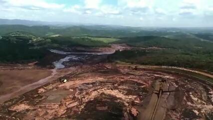 Imagens aéreas mostram situação na região de Brumadinho (MG)