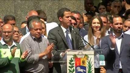 Maduro e Guaidó fazem discursos em Caracas