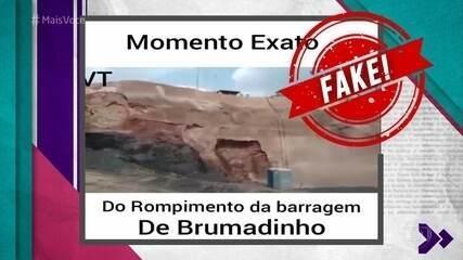 Fake News: Vídeo que mostra rompimento da barragem não é de Bumadinho