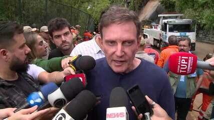 Prefeito do Rio informa o número de mortos durante temporal