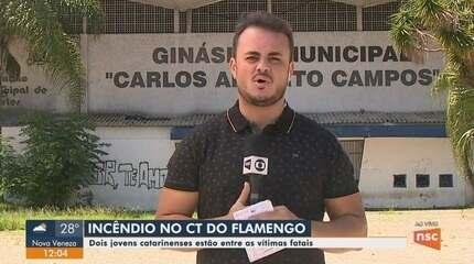 Dois catarinenses estão entre as vítimas do incêndio do Flamengo