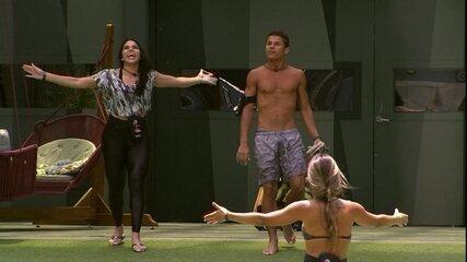 Elana e Danrley voltam para a casa após Diego e Maycon deixarem a Prova do Líder