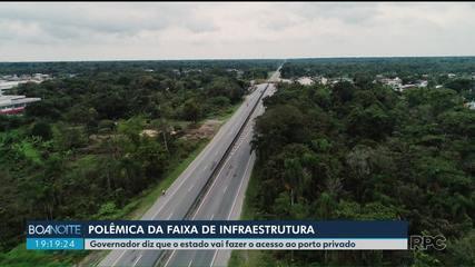 Governador diz que estado vai fazer o acesso ao porto privado em Pontal