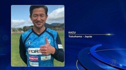 Kazu, jogador mais velho em atividade (52 anos!), recebe título de cidadão jauense, por conta de sua passagem pelo XV de Jaú