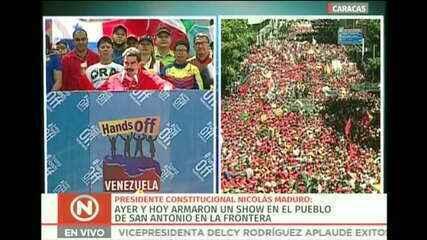 Maduro chama opositores que tentam levar ajuda humanitária de 'traidores'