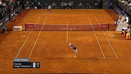 O pontos finais de Pablo Cuevas 1 x 2 Félix Auger-Aliassime pela semifinal do Rio Open 2019