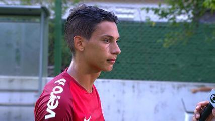 Sarrafiore fala do primeiro gol com a camisa colorada e sobre vitória do Inter
