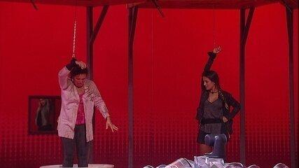 Tereza é a segunda a deixa a Prova do Líder e elimina Gabriela