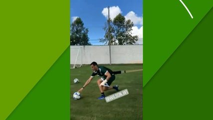 Wilson faz treino físico no Coritiba após cirurgia na mão