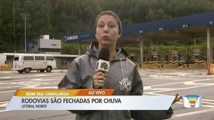 Rodovia dos Tamoios registra quedas de barreiras após interdição no trecho de serra