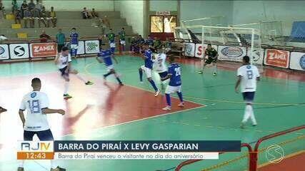 Barra do Piraí vence Levy Gasparian no dia do aniversário e estreia com pé direito
