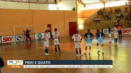 Russinho faz cinco gols e comanda goleada de Piraí sobre Quatis na estreia