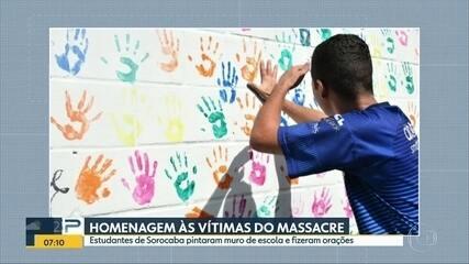 Alunos de Sorocaba fazem homenagens às vítimas do massacre de Suzano