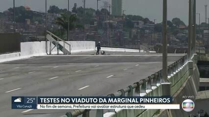 Prefeitura fará testes em viaduto que cedeu na Marginal Pinheiros